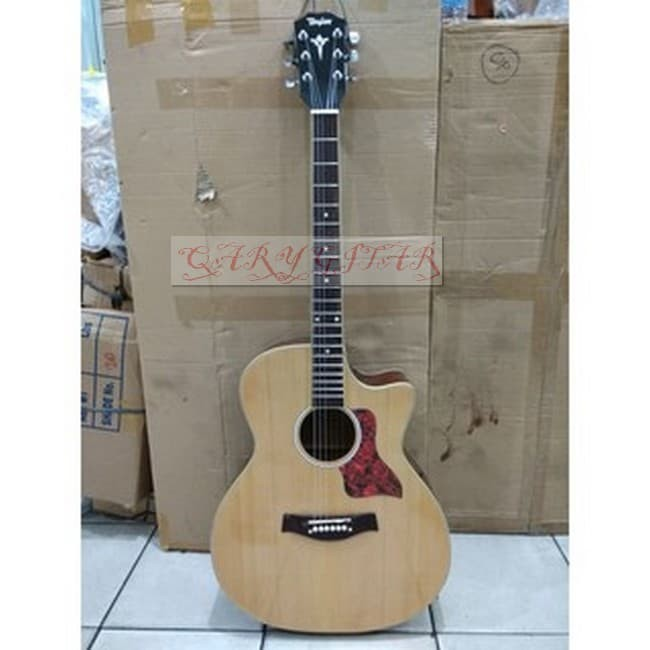 QARY GITAR Gitar Akustik Elektrik Natural Merk Taylor Jakarta Murah