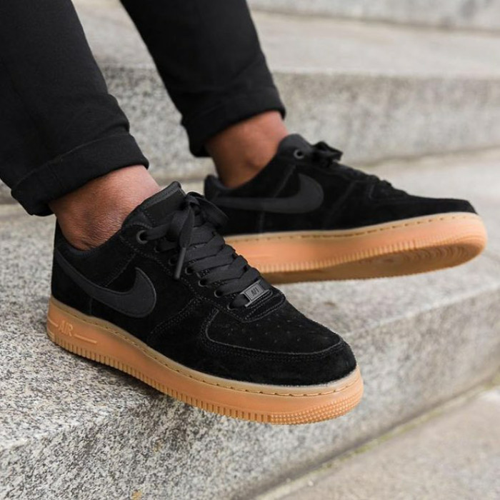 3f5134b99df53 Jual Nike Air Force One Low Black Gum - Hitam