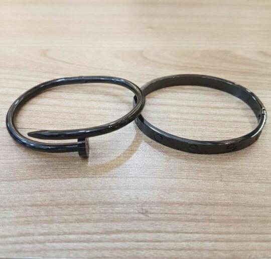 Gelang paku ctr dan gelang ctr love paket black edition stainless prem