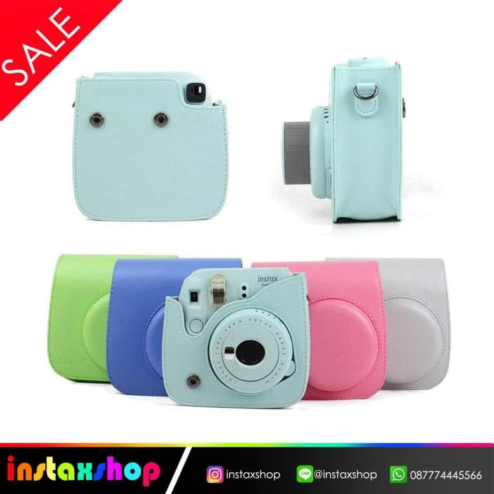 harga Leather bag fujifilm instax mini 8 / mini 9 pouch 8s tas kamera - merah Tokopedia.com