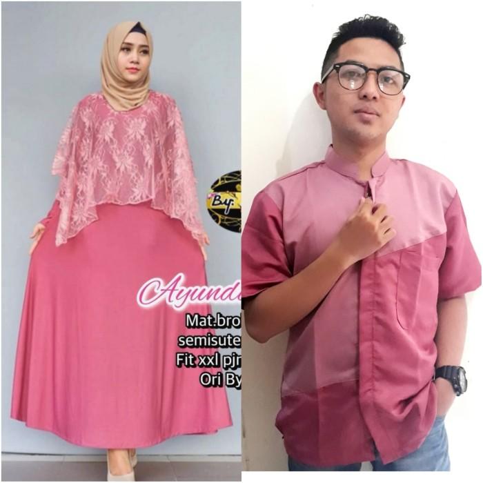 Jual Baju Couple Muslim Sarimbit Gamis Brukat Brokat Seragam Pesta Sbp Merah Muda M Kota Surabaya Griya Sarimbit Tokopedia