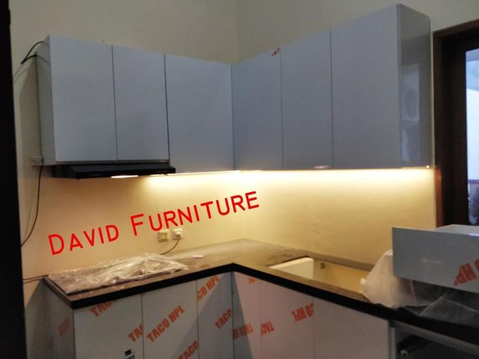 Jual Kitchen Set Minimalis Jakarta Dengan Lampu Led Dan Hood Modena Jakarta Timur David Furniture Tokopedia