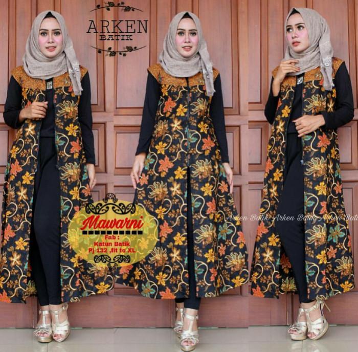 harga Long cardi etnik (outer batik) motif mawarni daun hitam murah allsize Tokopedia.com