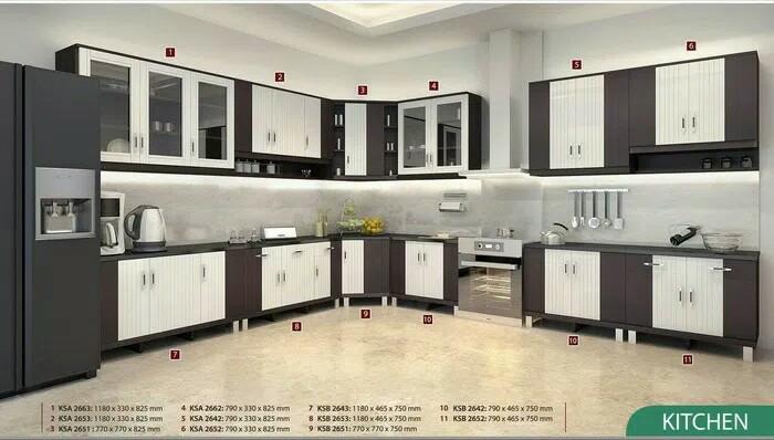 Harga Jual Kitchen Set Lemari Dapur 2 Pintu Atas Dan 2 Pintu Bawah