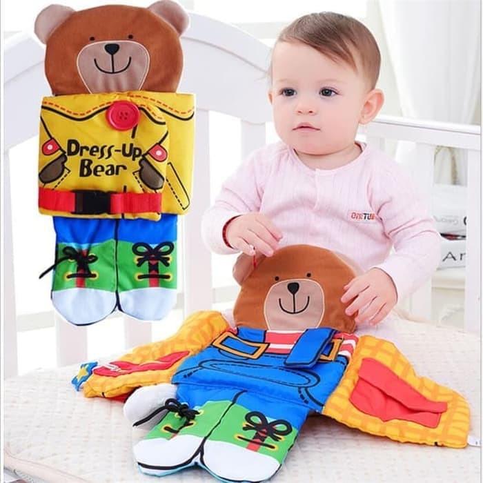 harga Activity book for kids - dress up bear - cloth book Tokopedia.com