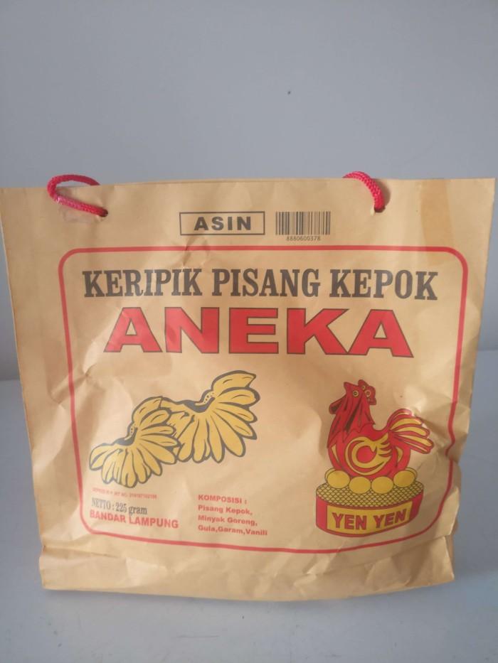 Keripik pisang kepok ANEKA Yen-Yen asli Lampung Aneka Rasa 225 GR - Coklat