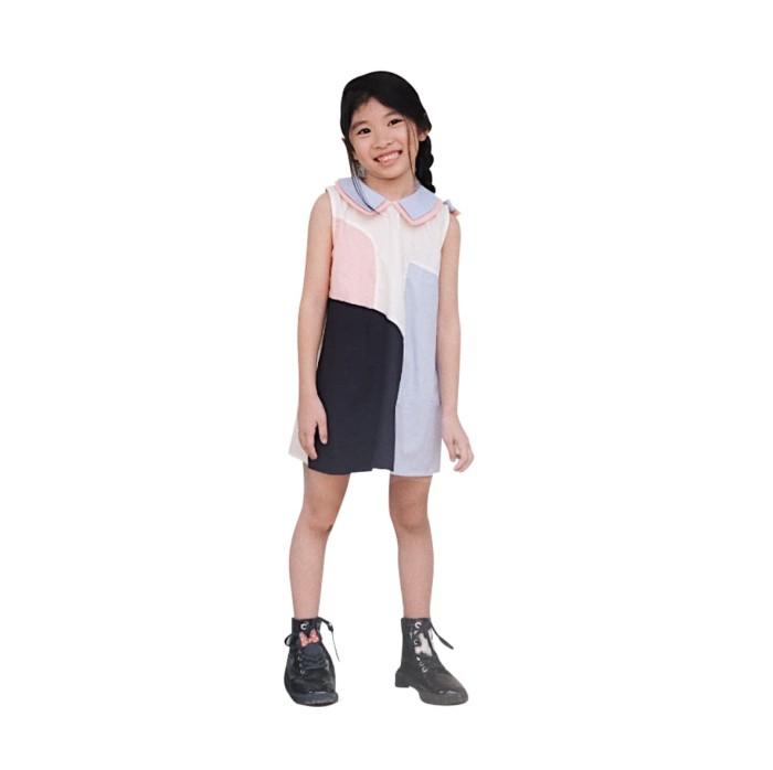 emily dress mosfit baju dress anak perempuan - 2 years