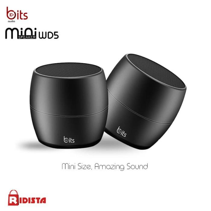 harga Speaker mini bits bluetooth pairingable wd5 (2 pcs) - perak Tokopedia.com