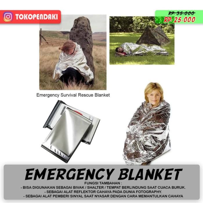 Blanket Foil Emergency Selimut Alumunium Penghangat Anti Hipotermia - Blanja.com