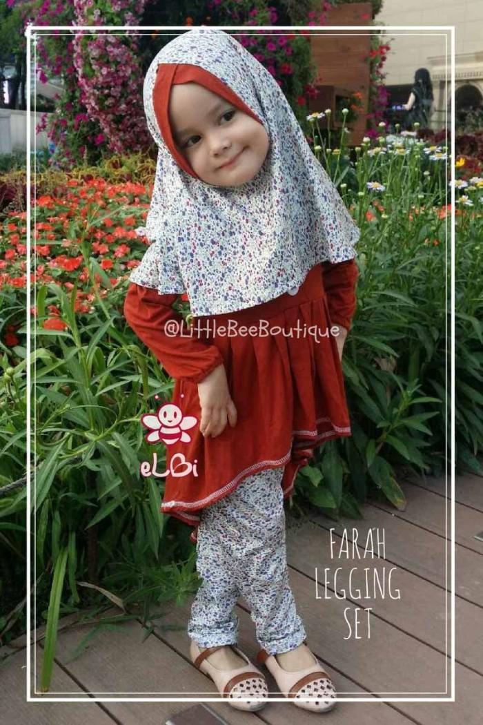 Jual Farah Legging Set Baju Anak Muslimah Kekinian Setelan Baju