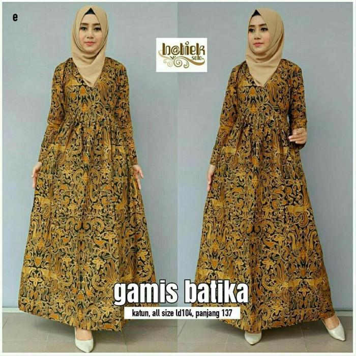 Jual Gamis Batik Gamis Busui Baju Muslim Murah Seragam Gamis Modern ... 3ce28e5088
