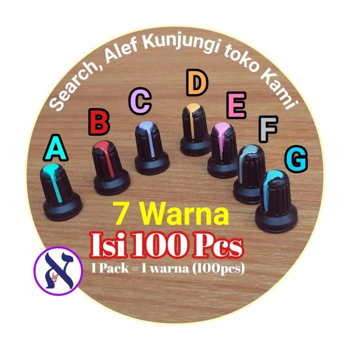 harga Knop potensio mixer audio volume tombol hitam warna warni 100 pcs Tokopedia.com