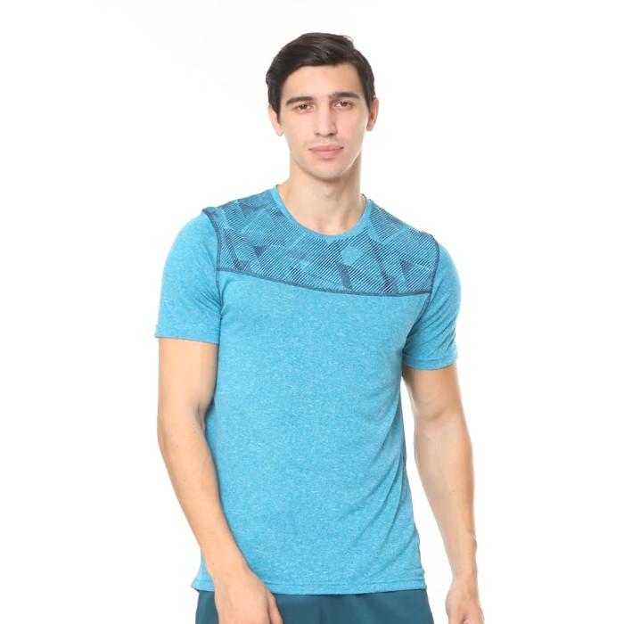 enzoro - pakaian olahraga pria elgio t-shirt blue jay - biru xxl
