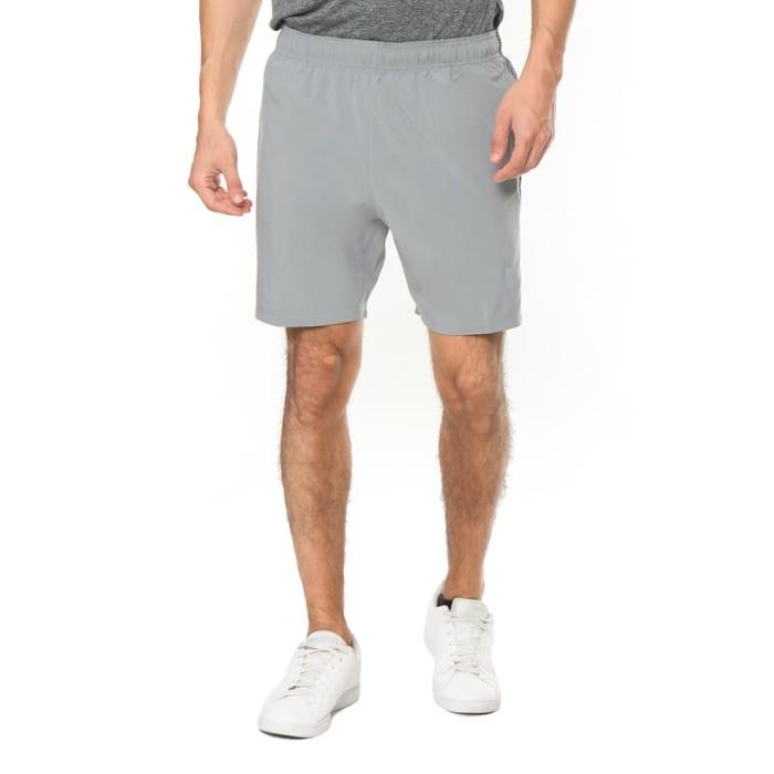 enzoro - celana olahraga pria palazzo shorts grey - abu-abu muda l