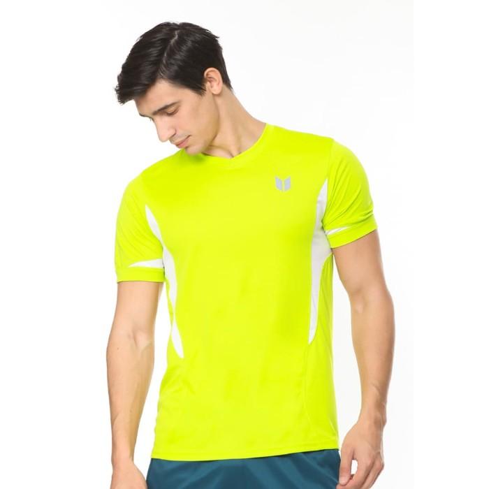 enzoro - pakaian olahraga pria ernesto t-shirt - kuning l