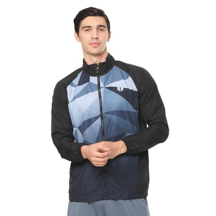 enzoro - pakaian olahraga pria stevano jacket black - hitam l