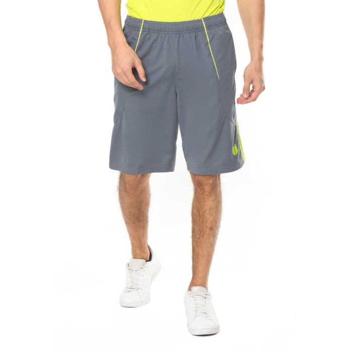 enzoro - celana olahraga pria ancona shorts thunder grey - abu-abu s