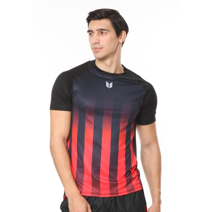 enzoro - pakaian olahraga pria ferrara t-shirt - hitam xl