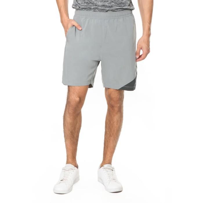 enzoro - celana olahraga pria marcotelli shorts grey - abu-abu muda xl