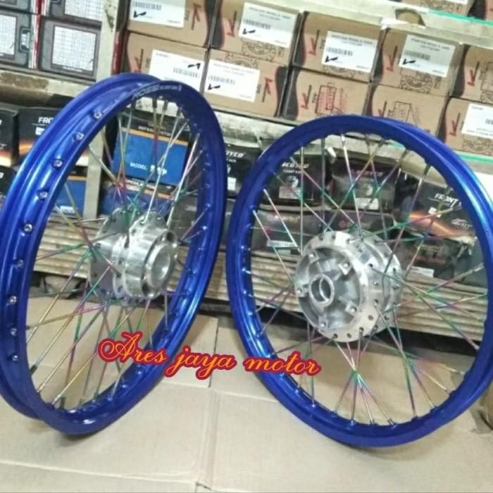 Jual Beli Velg Pariasi Ring 17 Biru Untuk Motor Yamaha Jupiter Mx