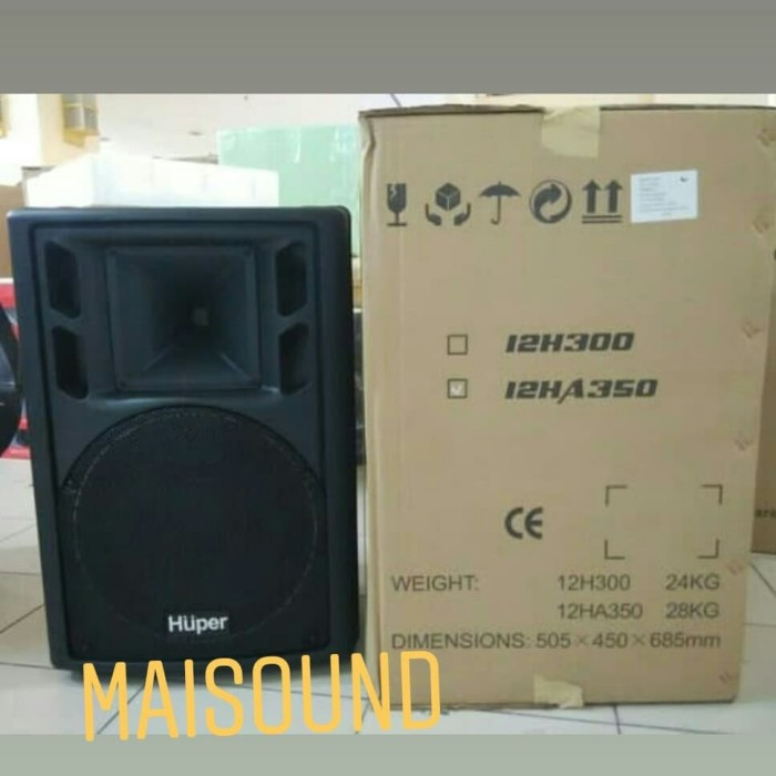 harga Speaker aktif huper 12 ha350 (12 inch) original Tokopedia.com