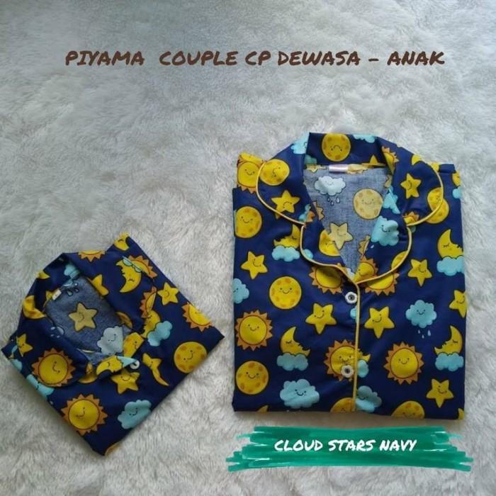 Jual Baju Piyama Couple Cloud Stars Navi Ibu Dan Anak Ukuran Anak S Kota Tasikmalaya Pasar Tasik Tokopedia