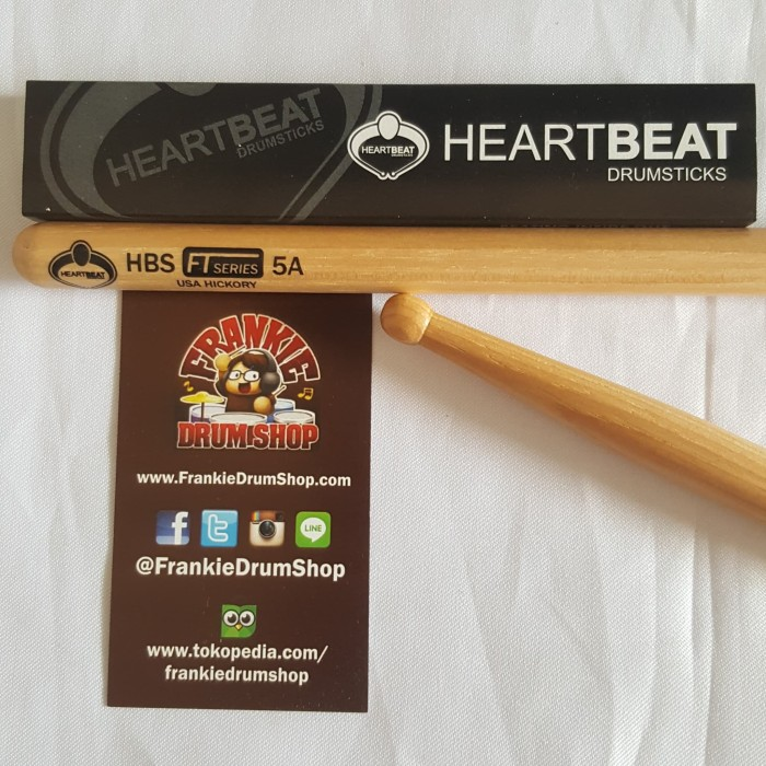 Foto Produk HeartBeat HBFT5AHR - 5A HBS FT Series Round Tip Hickory Stick Drum dari FrankieDrumShop