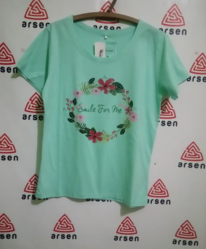harga Tshirt wanita tangan pendek print tulisan / kaos 2 Tokopedia.com