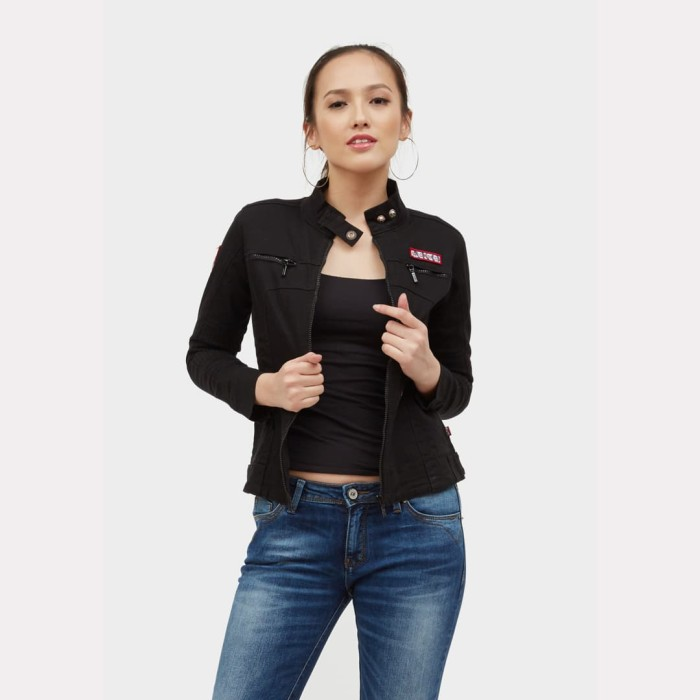 harga Ako jeans jaket denim (11-0238) - hitam s Tokopedia.com