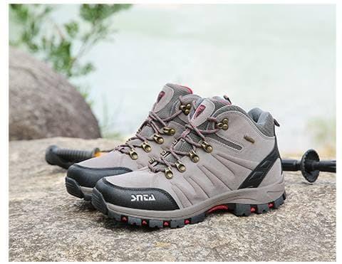 Sepatu Gunung Original SNTA 479 Pria - Sepatu Outdoor Hiking Climbing -  Grey Red 169e6d8562