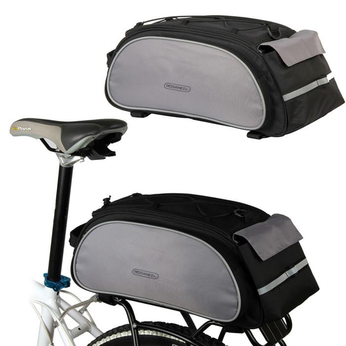 harga Tas pannier belakang warna hitam abu-abu bisa di cangklong sepeda gowe Tokopedia.com