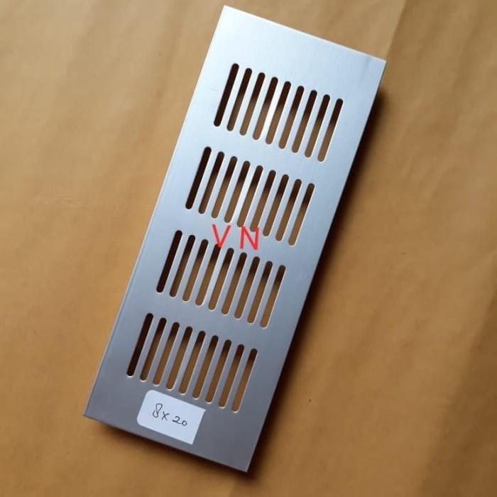 Foto Produk Lobang angin 8 x 20 cm aluminium/lubang hawa/saringan-ventilasi lemari dari Toko VN