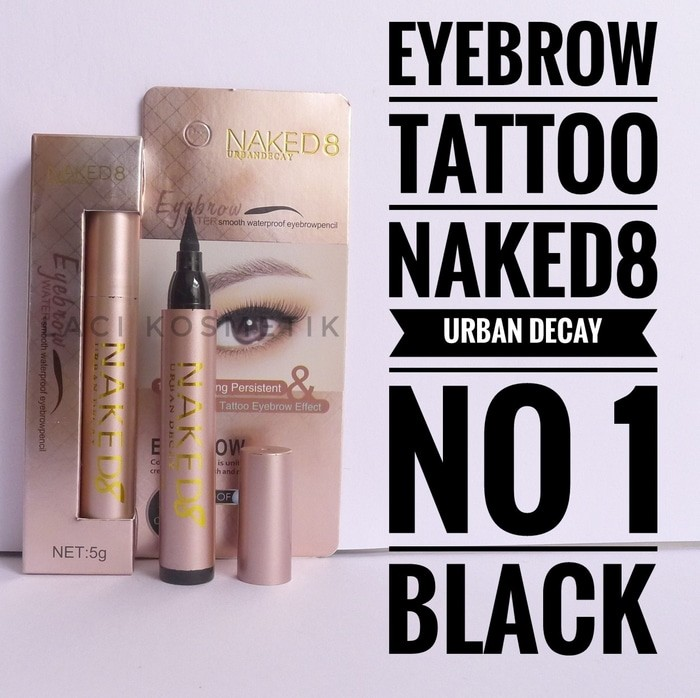 Eyebrow Tattoo Naked urban decay eyebrow tato spidol pensil tatoo alis