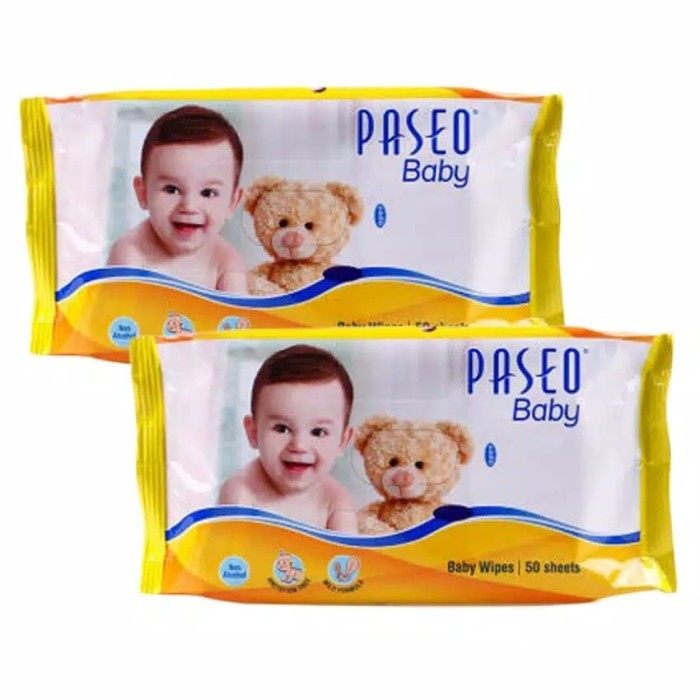 Paseo Baby Wipes 50's Murah