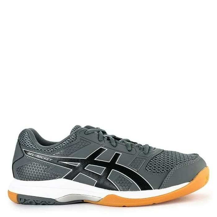 Sepatu Tenis Badminton Asics Gel Rocket 8 Silver Orange Original Murah 7c34f629f7