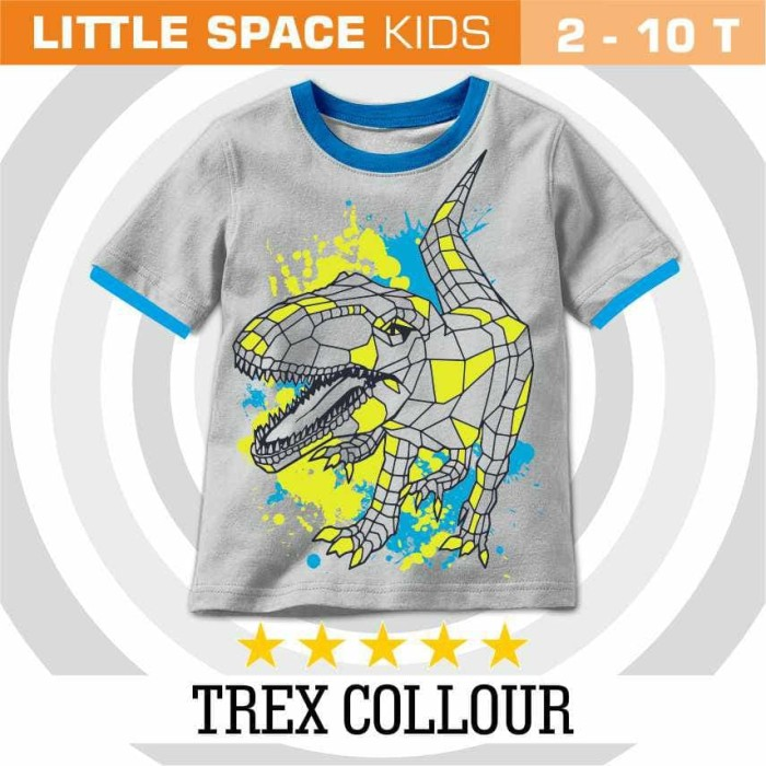 Jual kaos anak - LITTLE SPACE BOY - size 4 ONLY - TREX COLLOUR - kaos anak  - Kota Bandung - Li'l Project Shop - Inda | Tokopedia