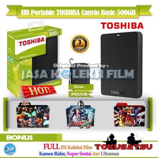 harga Hardisk eksternal toshiba 500gb full bonus koleksi film tokusatsu Tokopedia.com