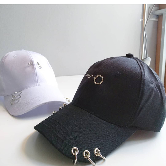 Jual Topi baseball RING peniti fashion wanita pria korea kpop import ... e71289803f