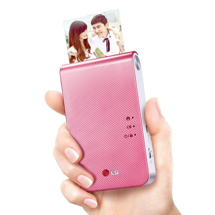 harga Lg printer foto warna portable pocket size bluetooth 4.0 - dp239p pink Tokopedia.com