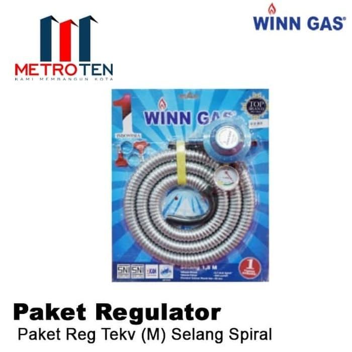 Image Winn Gas Paket REG TEKV (M) Selang Spiral