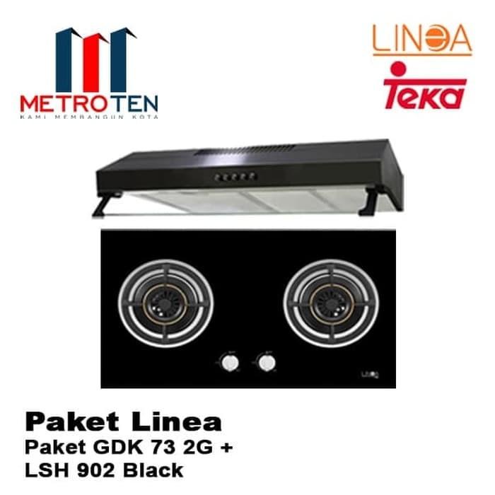 Image Paket Kompor Linea GDK 73 2G   LSH 902 Black