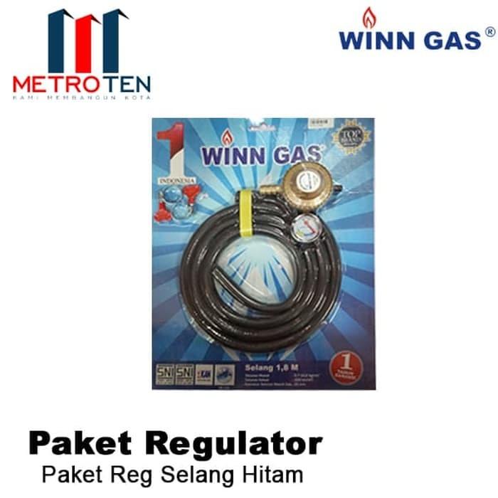 Image WINN GAS Paket Regulator Selang Hitam W68M
