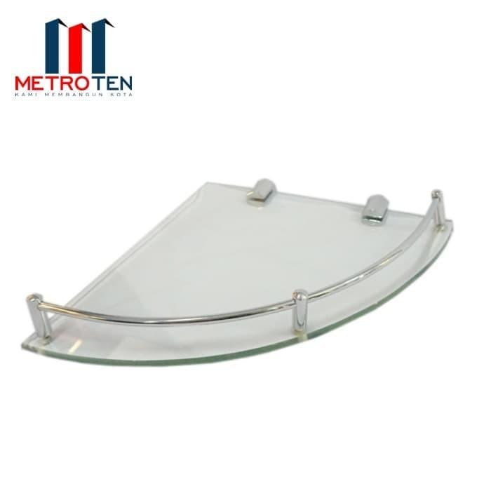 Image CASTELLI 1196732 Corner Glass Shelf