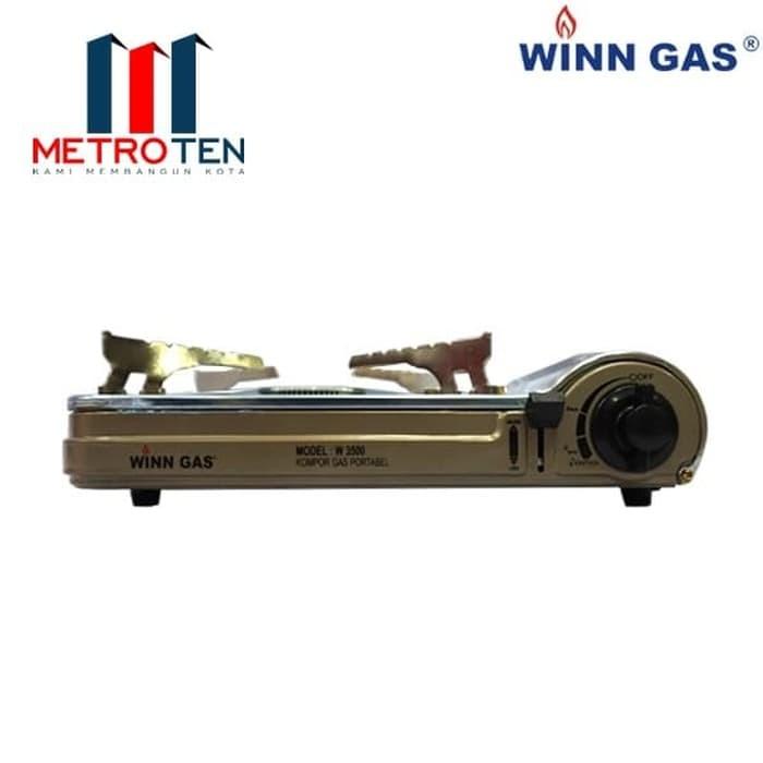 Image Winn Gas W-3500 Kompor Gas Portable SS 2 Fungsi