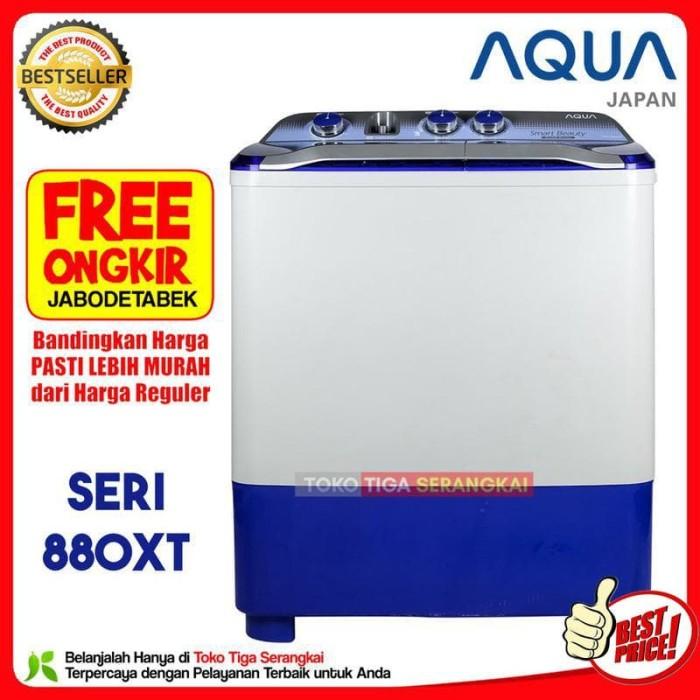 Aqua Mesin Cuci 2 Tabung 8 Kg QW-880XT (Free Onkir Jabodetabek)
