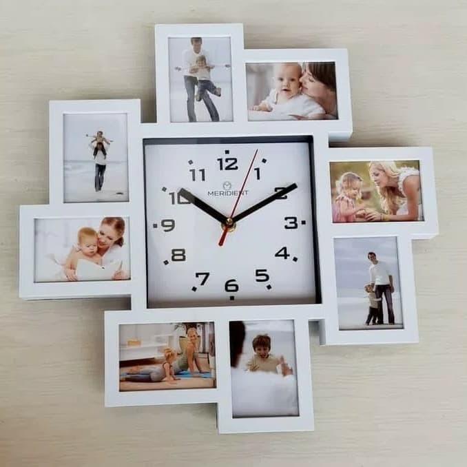Frame foto dilengkapi jam dinding