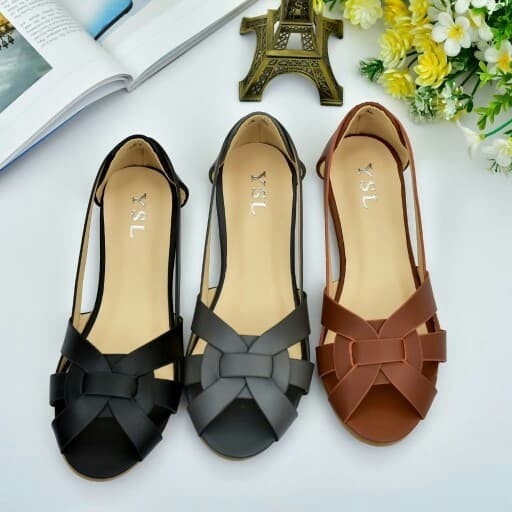 Ysl tribute flat shoes 168-1## semi premium bahan : kulit (with box)