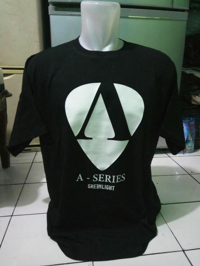 T shirt, Shirt, Kaos oblong, Kaos distro, Kaos A-Series Greenlight
