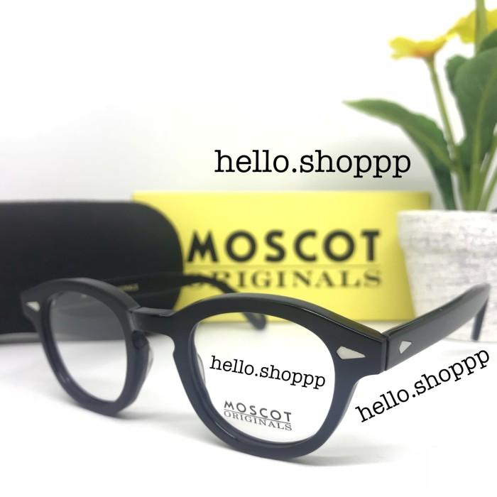 Frame Kacamata Moscot Lemtosh hitam glossy size Small - kacamata minus 4899e3e611