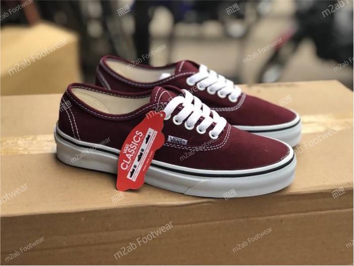 Jual Sepatu Vans Authentic Merah Maroon White Kota Bandung
